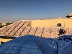 Tile roof solar mounting system installed in Dubai